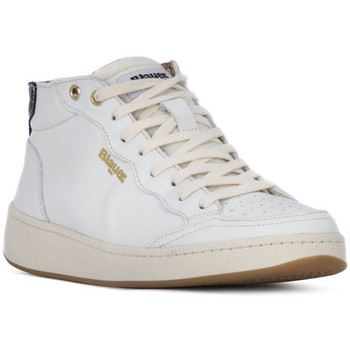 Schuhe Damen Sneaker High Blauer OLYMPIA Bianco