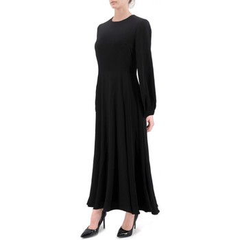 Kleidung Damen Maxikleider Anonyme | Schwarzes Kupenkleid | ANY_P129FD144_BLACK Noir