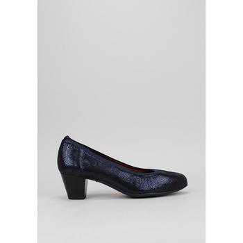 Schuhe Damen Leinen-Pantoletten mit gefloch Sandra Fontan ORNELLA Blau