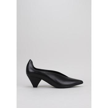 Schuhe Damen Leinen-Pantoletten mit gefloch Krack CALPIA Schwarz