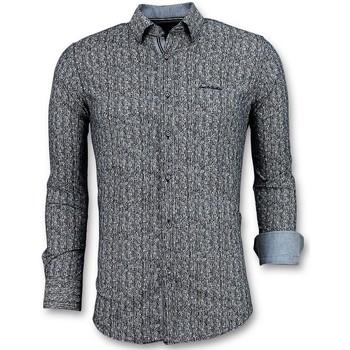 Kleidung Herren Langärmelige Hemden Tony Backer Bedruckte Pointed Star Ober Grau