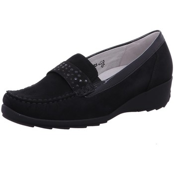 Schuhe Damen Slipper Waldläufer Slipper Hanin 348501 300 001 schwarz