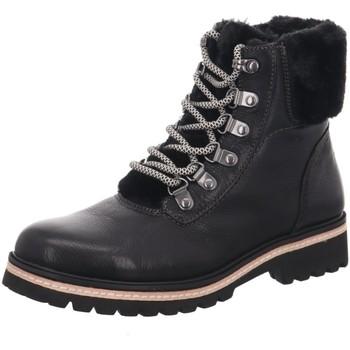 Schuhe Damen Boots Regarde Le Ciel Stiefeletten Brandy-01-4658 schwarz