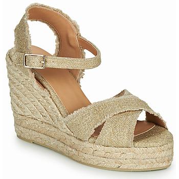 Schuhe Damen Sandalen / Sandaletten Castaner BROMELIA Goldfarben