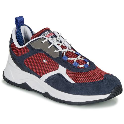 Schuhe Herren Sneaker Low Tommy Hilfiger FASHION MIX SNEAKER Blau