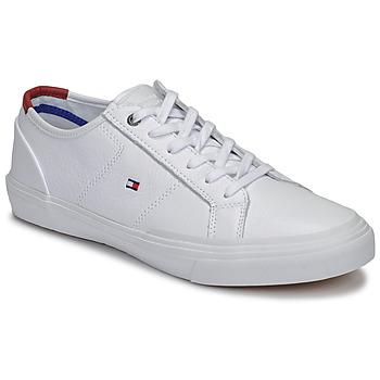 Schuhe Herren Sneaker Low Tommy Hilfiger CORE CORPORATE FLAG SNEAKER Weiss