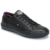 Schuhe Herren Sneaker Low Tommy Hilfiger CORE CORPORATE FLAG SNEAKER Schwarz