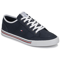 Schuhe Herren Sneaker Low Tommy Hilfiger CORE CORPORATE TEXTILE SNEAKER Blau