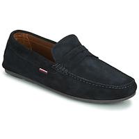 Schuhe Herren Slipper Tommy Hilfiger CLASSIC SUEDE PENNY LOAFER Blau