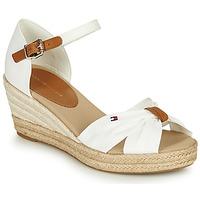 Schuhe Damen Sandalen / Sandaletten Tommy Hilfiger BASIC OPENED TOE MID WEDGE Weiss