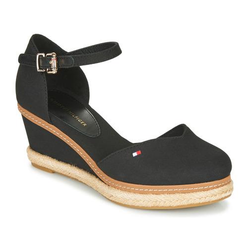 Schuhe Damen Sandalen / Sandaletten Tommy Hilfiger BASIC CLOSED TOE MID WEDGE Schwarz