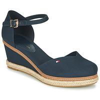 Schuhe Damen Sandalen / Sandaletten Tommy Hilfiger BASIC CLOSED TOE MID WEDGE Blau