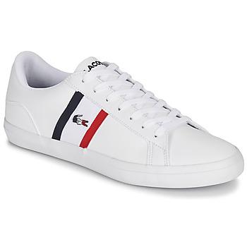 Schuhe Herren Sneaker Low Lacoste LEROND TRI1 CMA Weiss / Blau / Rot