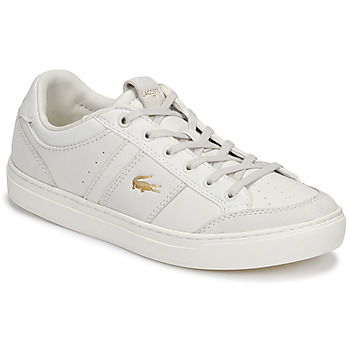 Schuhe Damen Sneaker Low Lacoste COURTLINE 120 1 US CFA Weiss / Gold