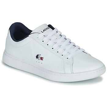Schuhe Damen Sneaker Low Lacoste CARNABY EVO TRI 1 SFA Weiss / Marine / Rot