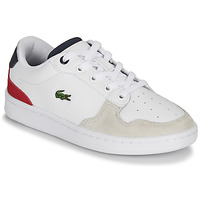 Schuhe Kinder Sneaker Low Lacoste MASTERS CUP 120 2 SUC Weiss / Blau / Rot