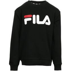 Kleidung Kinder Sweatshirts Fila Kids Classic Logo Crew Sweat Schwarz