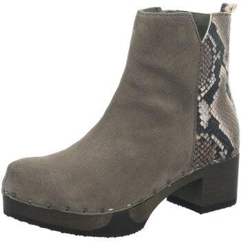 Schuhe Damen Low Boots Softclox Stiefeletten Jaemi 3493-GRAPHIT/SCHLANGE grau