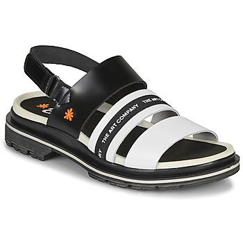 Schuhe Damen Sandalen / Sandaletten Art BIRMINGHAM Schwarz / Weiss