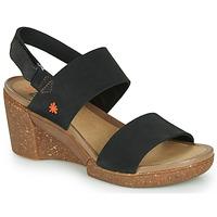 Schuhe Damen Sandalen / Sandaletten Art ROTTERDAM Schwarz