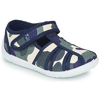 Schuhe Jungen Hausschuhe Chicco TULLIO Blau / Weiss