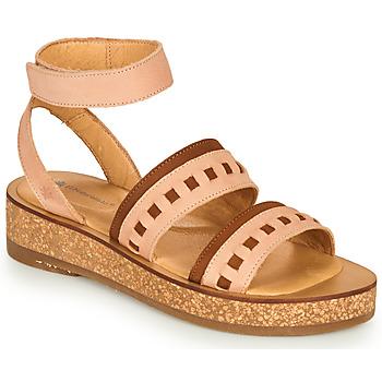 Schuhe Damen Sandalen / Sandaletten El Naturalista TÜLBEND Rose / Braun