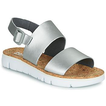 Schuhe Damen Sandalen / Sandaletten Camper Oruga Sandal Silbern