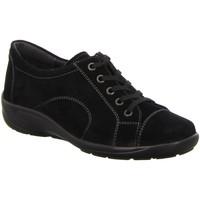 Schuhe Damen Sneaker Low Semler Schnuerschuhe Birgit schw.Vel. B6055041001 schwarz