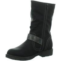 Schuhe Damen Stiefel Firence Stiefel Da. Schaftstiefel mit Warmfutt,BLAC 266337062/006 schwarz
