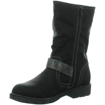 Schuhe Damen Stiefel Idana Stiefel Da. Schaftstiefel mit Warmfutt,BLAC 266337062 schwarz