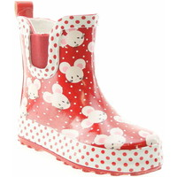 Schuhe Mädchen Gummistiefel Beck 866 07 Mäuschen Mädchen Gummiestiefel Rot Rot