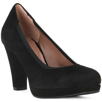 Schuhe Damen Pumps Priv Lab NERO CAMOSCIO Nero