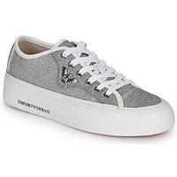 Schuhe Damen Sneaker Low Emporio Armani X3X109-XL487 Silbern