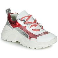 Schuhe Damen Sneaker Low Fru.it CARETTE Weiss / Rot / Silbern