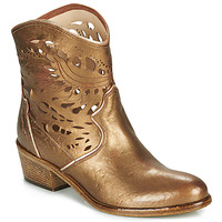 Schuhe Damen Low Boots Fru.it COWGOLD Bronze