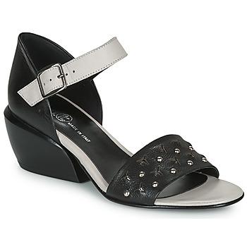 Schuhe Damen Sandalen / Sandaletten Fru.it LEMMINE Schwarz / Weiss