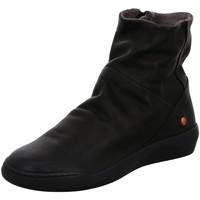 Schuhe Damen Stiefel Softinos Stiefeletten Bler550Sof P900550000 black Smooth P900550000 schwarz