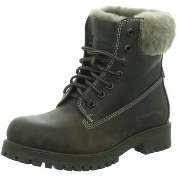 Schuhe Damen Stiefel Longo Stiefeletten -Schnürstiefel,dk.brown 1034074 BL-105 braun