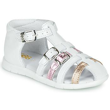 Schuhe Mädchen Sandalen / Sandaletten GBB PERLE Weiss