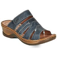 Schuhe Damen Pantoffel Josef Seibel CATALONIA 49 Blau
