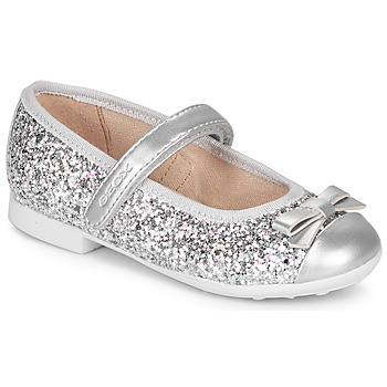 Schuhe Mädchen Ballerinas Geox JR PLIE' Silbern