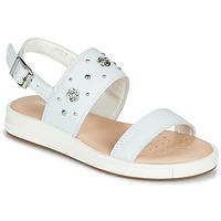 Schuhe Mädchen Sandalen / Sandaletten Geox J SANDAL REBECCA GIR Weiss