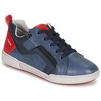 Schuhe Jungen Sneaker Low Geox J POSEIDO BOY Marine / Rot