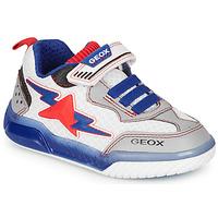 Schuhe Jungen Sneaker Low Geox J INEK BOY Weiss / Blau / Rot