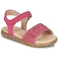 Schuhe Mädchen Sandalen / Sandaletten Geox J SANDAL HAITI GIRL Fuchsienrot