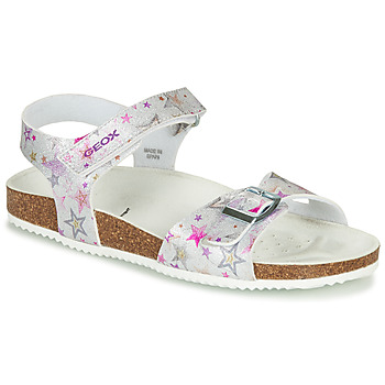 Schuhe Mädchen Sandalen / Sandaletten Geox J ADRIEL GIRL Silbern