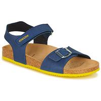 Schuhe Jungen Sandalen / Sandaletten Geox J GHITA BOY Blau / Gelb