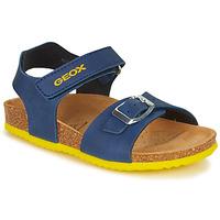 Schuhe Jungen Sandalen / Sandaletten Geox GHITA BOY Blau / Gelb