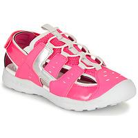 Schuhe Mädchen Sportliche Sandalen Geox J VANIETT GIRL Rose / Silbern