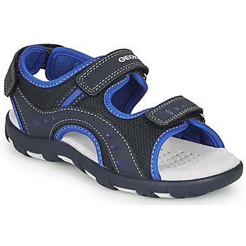 Schuhe Jungen Sportliche Sandalen Geox JR SANDAL PIANETA Marine